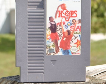 Vintage Nintendo Game, Hoops, JALECO 1988, Basketball
