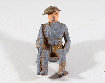 Vintage Barclay Manoil Lead Figure, Army Soldier, 1950s