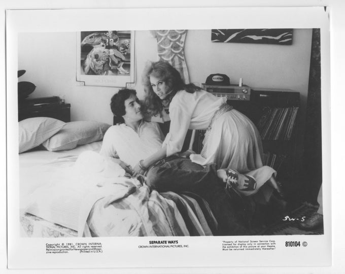 Vintage Photograph, Karen Black, David Naughton, Separate Ways, 1991, 8x10 Black & White, Promotional Photo, Movie Star Photo