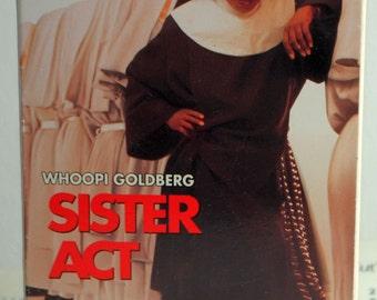 Vintage VHS Tape Sister Act 1992 starring Whoopi Goldberg