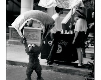 Vintage Photograph The Adventures of Elmo In Grouchland, 1998, 8x10 Black & White Promotional Photo