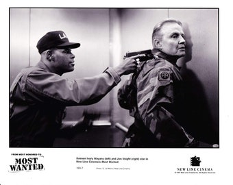 Vintage Photograph Keenen Ivory Wayans - John Vought, In Most Wanted 1997, 8x10 Black & White Promotional Photo