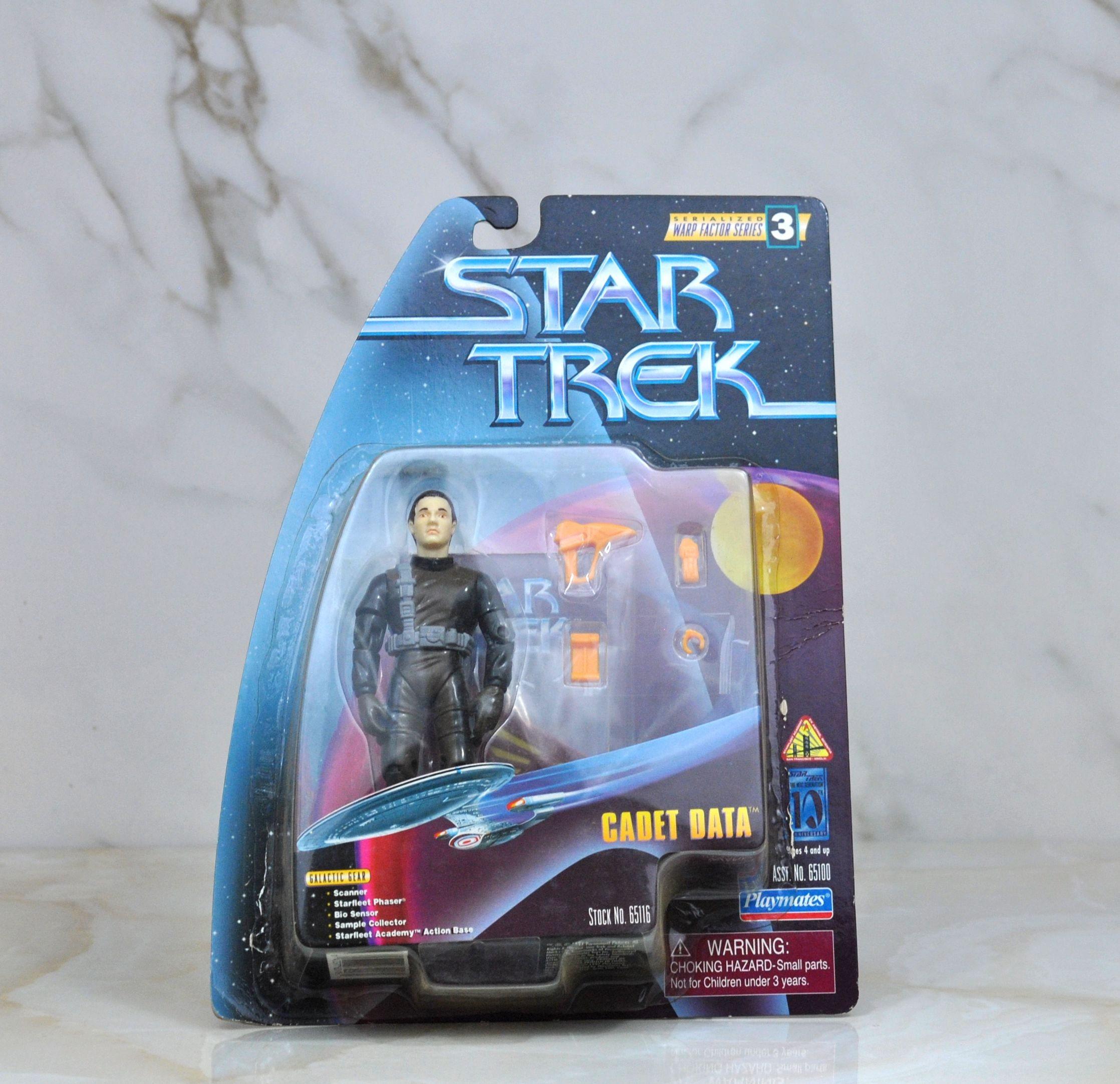 Vintage Star Trek Action Figure Cadet Data 65100 65116 1997