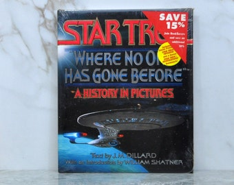 Vintage Star Trek Where No One Has Gone Before: A History in Pictures - Hardback - 1994 - The Next Generation - Voyager - Deep Space Nine