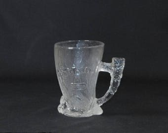 Vintage McDonald's Flintstone Glass, Mammoth Mug, 1993, Limited Edition