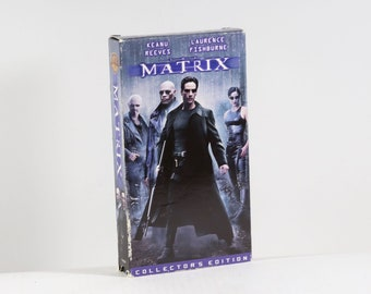 Vintage VHS Tape The Matrix Keanu Reeves Laurence Fishburne 1999 Warner Bros 136 Minutes