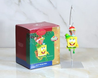 Heirloom Christmas Ornament Collection Santa's Spongy Helper 2004 Featuring SpongeBob Squarepants And Gary From Carlton Cards