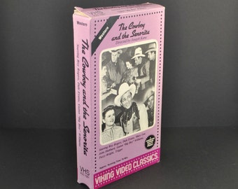 Vintage VHS Tape The Cowboy And The Senorita 1942 Remake starring Roy Rogers & Dale Evans