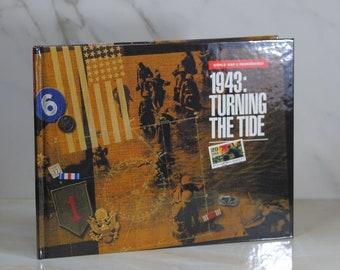 Vintage World War II Remembered 1943 Turning The Tide Book and Stamp Set