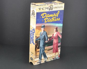 Vintage VHS Tape A Damsel In Distress 1937 Remake starring Fred Astaire & Gracie Allen