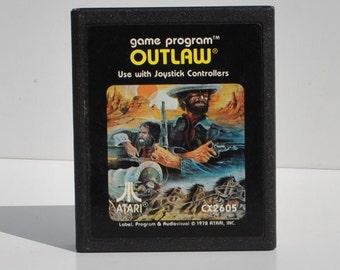Vintage Atari 2600 Game, Outlaw, Atari, 1979