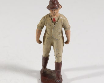 Vintage Barclay Manoil Lead Figure, Train Conductor 1950s England