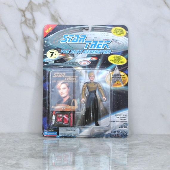Vintage Star Trek Action Figure le Lieutenant Natasha Yar 6950 6965 1994 Figure suivante génération, Playmates Figure, Star Trek, Star Trek jouet