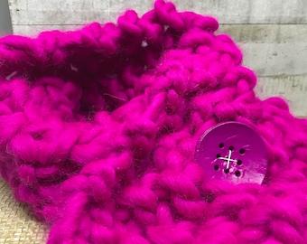 Fuchsia Infinity Scarf/Valentine Gift/ Hot Pink/