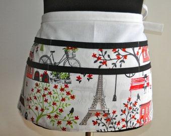 Paris Teacher apron, Preschool Teacher apron, Classroom utility apron, French Teacher apron, Kindergarten teacher apron, apron for teachers