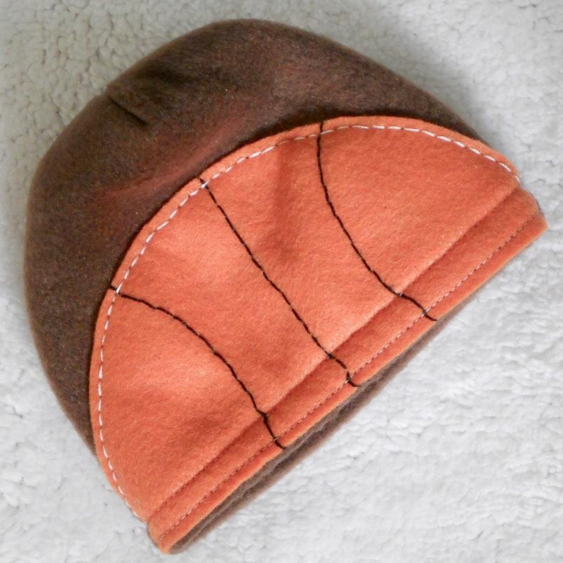 Basketball baby hat and mitten set Fleece baby hat and mitten set