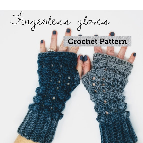 Crochet Fingerless Gloves Pattern Fingerless Arm Warmer Etsy