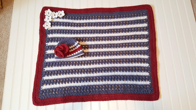 Crochet blanket Pattern, American Flag blanket pattern, baby girl ...