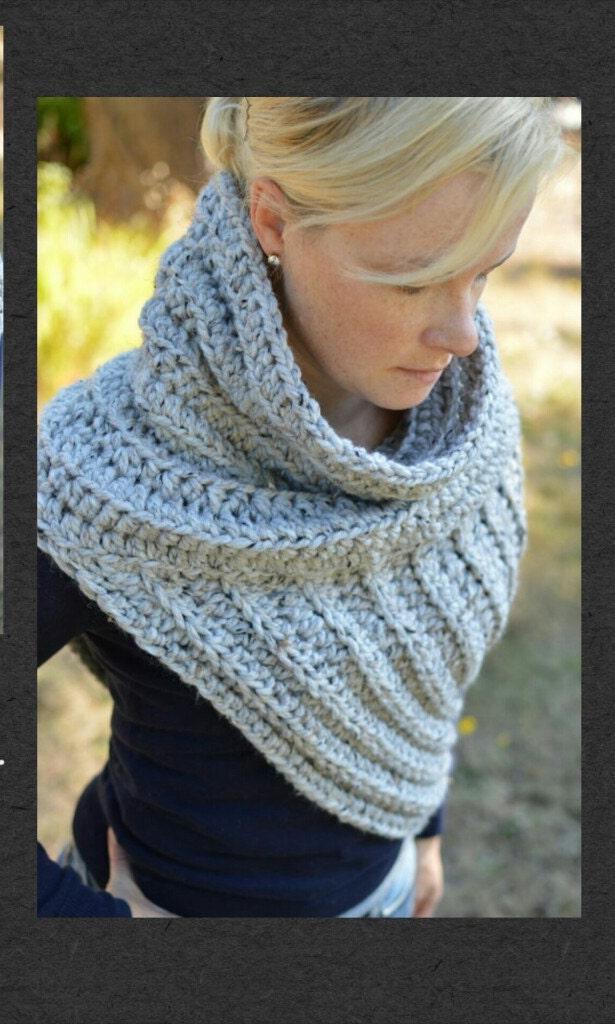 Gothic Asymmetric Crochet Vest Katniss Cowl Scarf Huntress Etsy