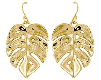 Monstera Large Earring