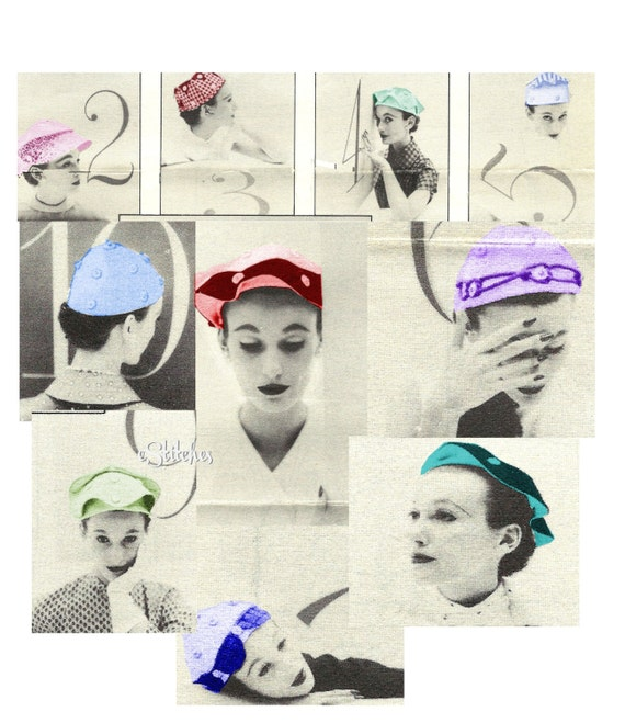 Skull Cap Ten Way Hat Vintage Sewing Pattern Sewing Pattern Etsy