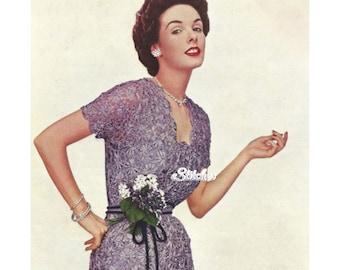 1950s Ribbon Daisy Evening Dress using Daisy Knitter  - Daisy Knitter PDF pattern 2009