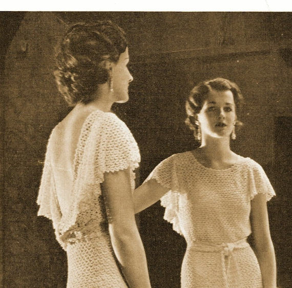 1930s Backless Evening Gown Or Wedding Dress With Short