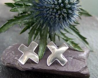 Scotland Saltire earrings
