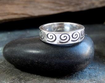Spiral design sterling silver Ring