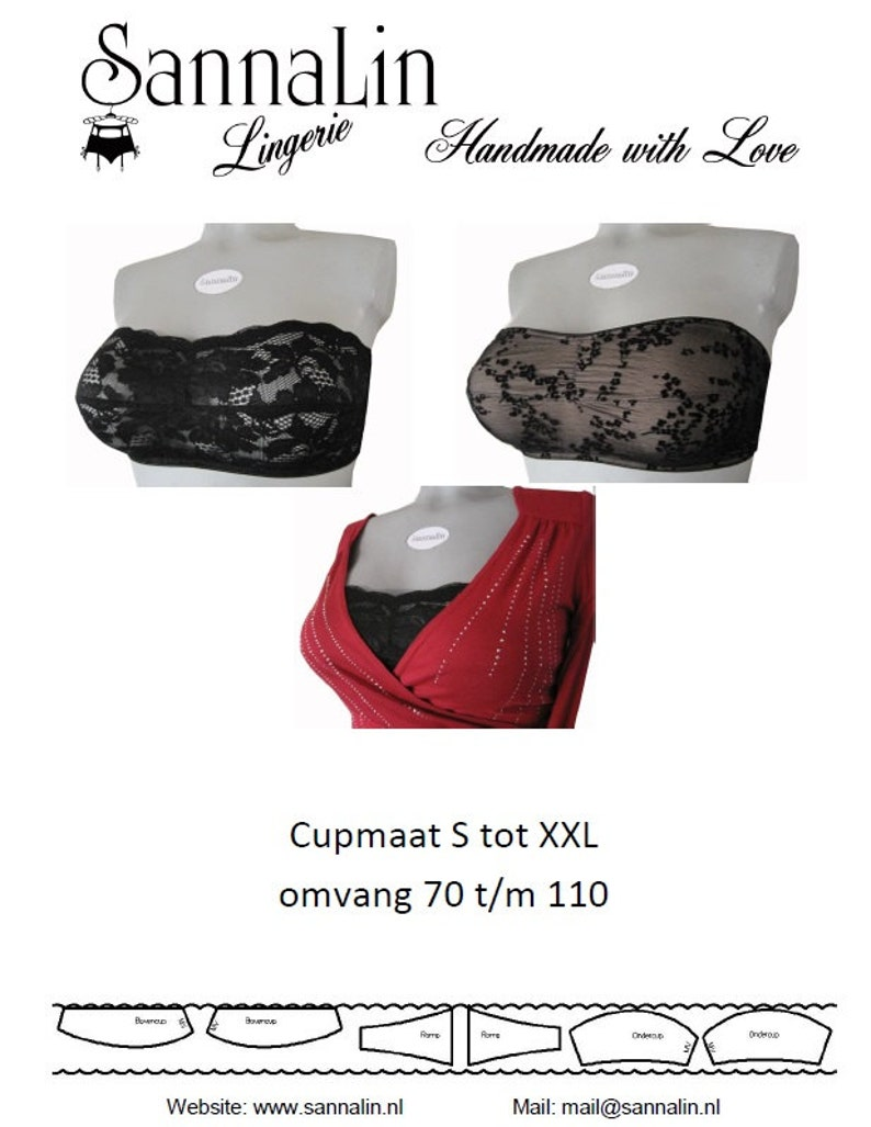 Pattern Bandeau Bra description in Dutch and English image 0