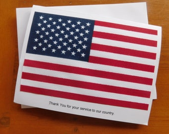 Patriotic Thank You Card Printable Printable American Flag Card 4th of July Card America Digital Download Card Red White and Blue.