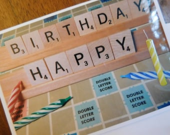 Friend Happy Birthday Scrabble Or Words With Friends Greeting