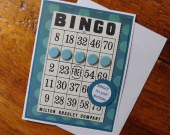 Bingo Birthday Greeting Card