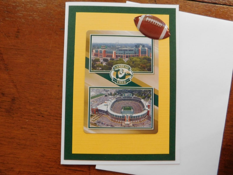Green Bay Packers Card Birthday Football