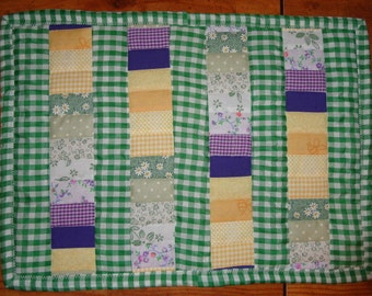 All in a Row Quilted Placemat Mailed Paper Pattern by Sew Practical, Mom and Pop Craft