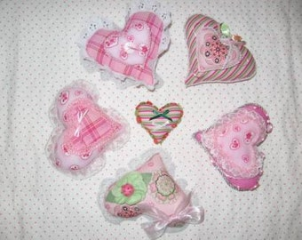 Valentine Heart Shaped Ornaments Digital Pattern by Sew Practical, Mom and Pop Craft