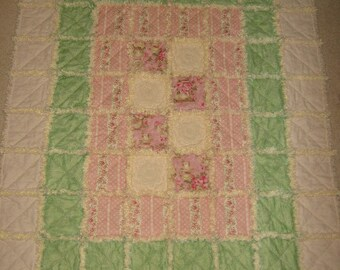 Border Patrol Rag Quilt Mailed Paper Pattern by Sew Practical, Mom and Pop Craft