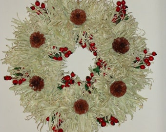 Shredded Corn Husk Wreath Digital Pattern from Sew Practical, Mom and Pop Craft