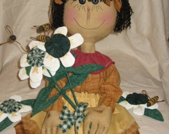 Primitive May Bee Doll Digital Pattern from Sew Practical, Mom and Pop Craft