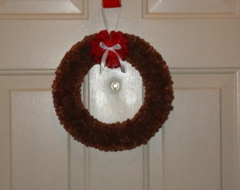 Mini Pine Cone Wreath Mailed Paper Pattern by Sew Practical, Mom and Pop Craft