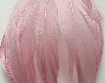 Goose Shoulder Feathers - Light Pink