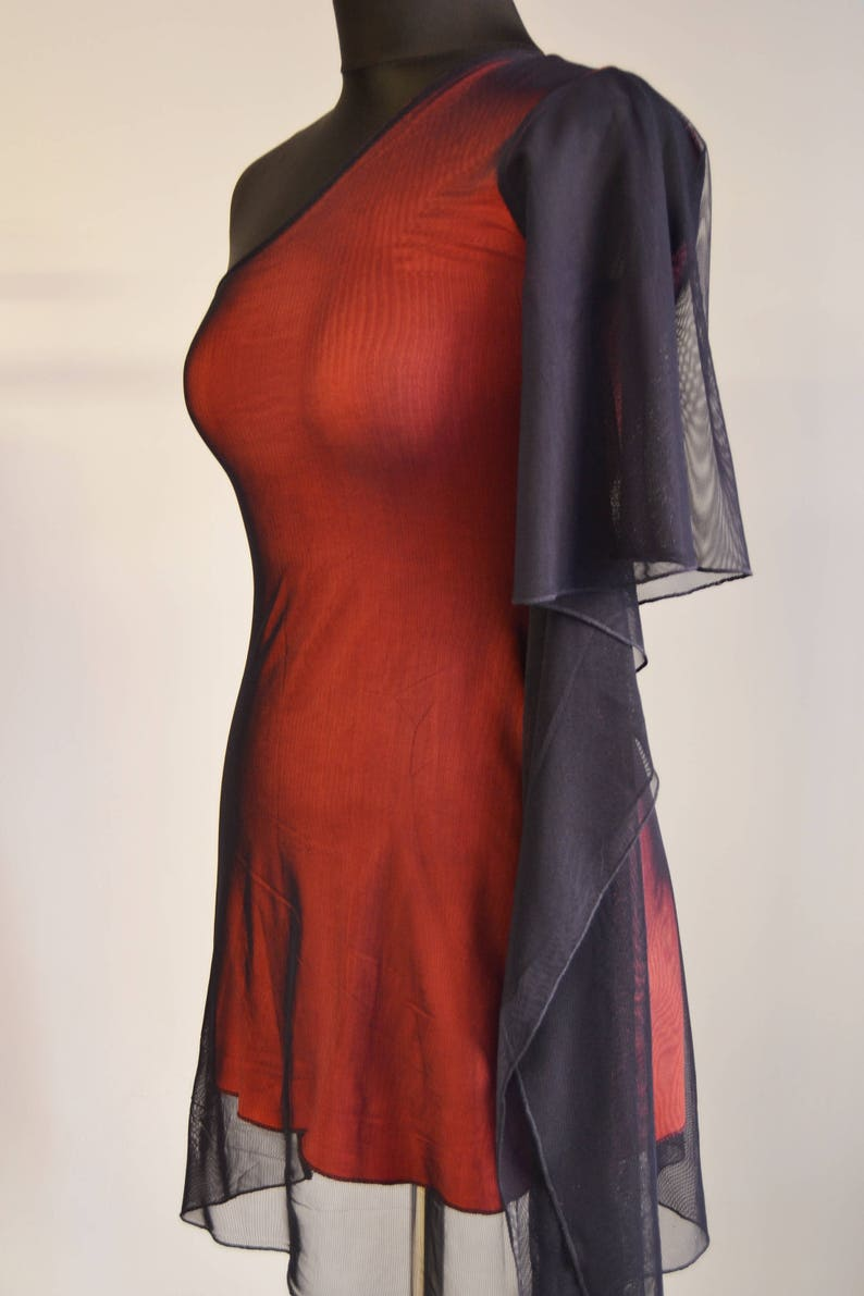 CUSTOM Size and Color Tango Dress with Flounce, IN STOCK Mesh and Jersey  Dress, Robe Tango, Tango Dress, Coral Navy Tango Clothes Fashion