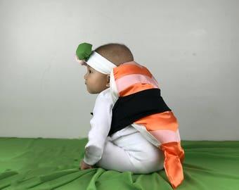 RUSH ORDER - Shrimp Sushi Costume / Halloween for Baby, Infant, Newborn, Toddler, Kid, Child, Girl, Boy