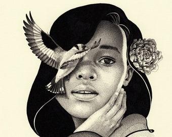 "Allure | Giclee Art Print | 8.3 x 11.7"""
