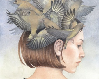 "Giclee Art Print - Nostalgia for Freedom III -  8.3 x 11.7"""
