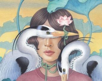 "Lotus | Giclee Art Print | 8.3 x 11.7"""