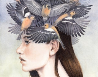 "Giclee Art Print - Nostalgia for Freedom II - 8.3 x 11.7"""