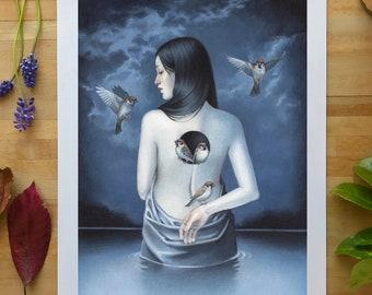 11.7 x 16.5 Art Print - Shelter