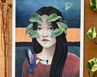 "Symbiosis | Giclee Art Print | 8.3 x 11.7"""