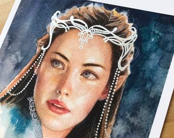 Arwen | Hand Embellished Art Print | Special Edition | 8 x 10